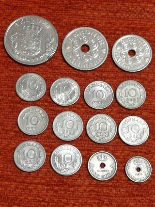 15 monedas de Dinamarca