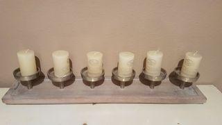 porta velas ( incluye velas)