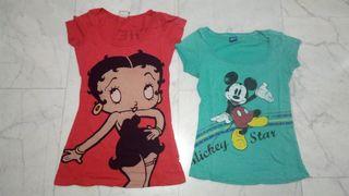 2 camisetas por 4€ + regalo