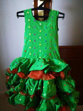 Vestido corto de sevillanas para niña