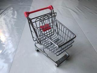 Carrito supermercado miniatura