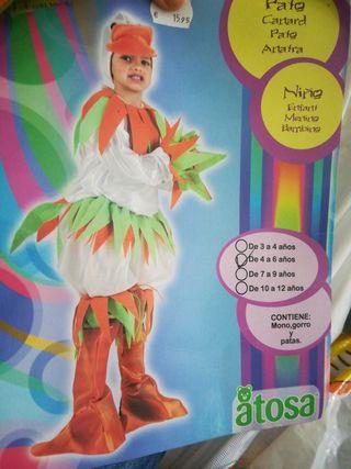 disfraz de pato de 4 a 6 años