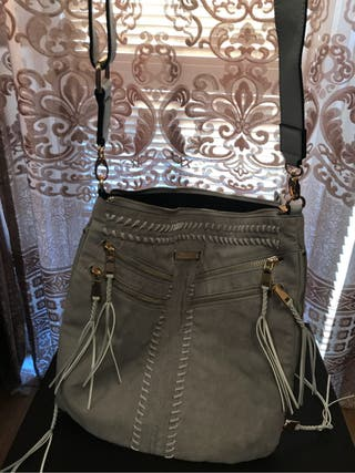 River island grey tassle bag