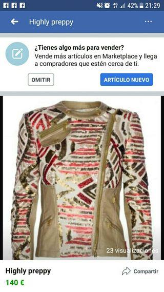 chaqueta talla m highly preppy