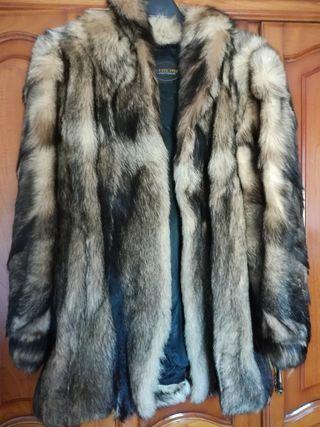 Abrigo piel zorro