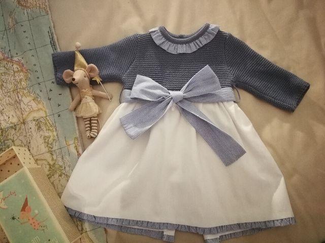 gran venta valor fabuloso el más baratas Faldón Vestido Neck & Neck baby 0 a 3 meses de segunda ...