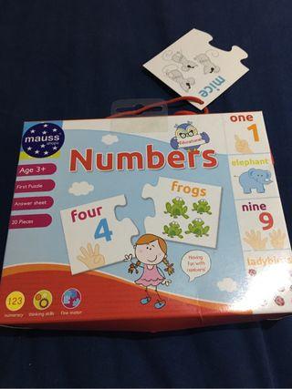 Puzzle números Ingles