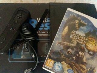 Consola wii + juego Monster Hunter Tri