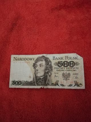 billetes de Polonia