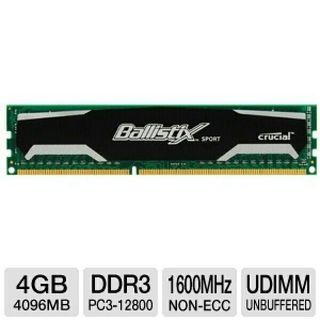 Módulo Memoria Ballistix DDR3 4GB PC12800