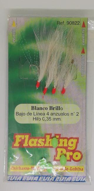 Señuelo de pesca Evia Flashing Pro Blanco brillo