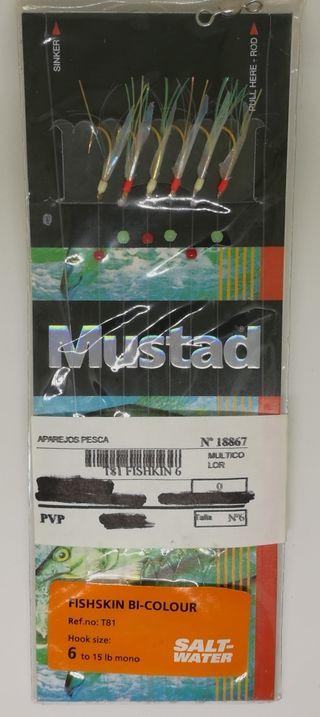 Señuelo de pesca Mustad Fishskin Bi-colour