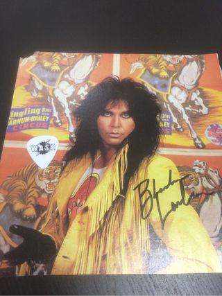 Wasp, blackie pua y foto firmada con certificado!!