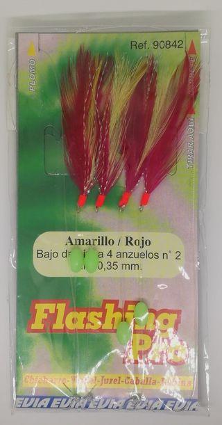 Señuelo de pesca Evia Flashing Pro Amarillo/Rojo
