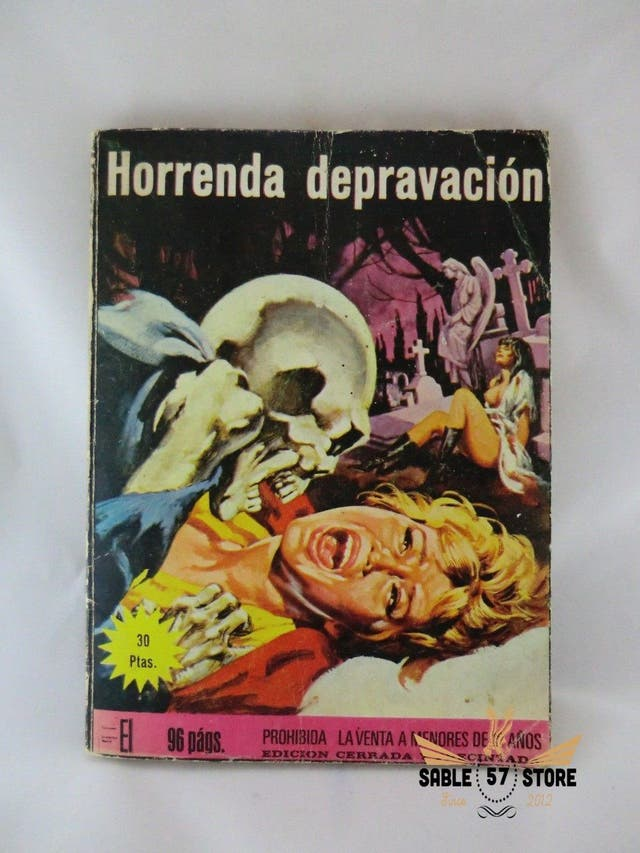 CÓMIC ANTIGUO ADULTOS 1976, HORRENDA DEPRAVACIÓN