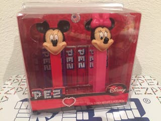 Dispensador caramelos PEZ. Mickey & Minnie.