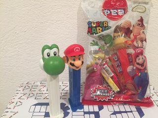 Dispensador caramelos PEZ. Súper Mario.
