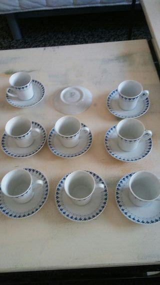 juego cafe vintage porcelana fina santa clara