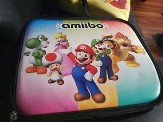 Estuche amibo con amibo Mario