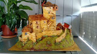 maqueta de castillo medieval