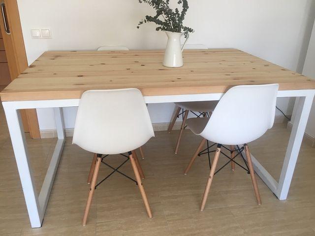 Mesa y sillas comedor estilo nordico de segunda mano por 520 € en ...
