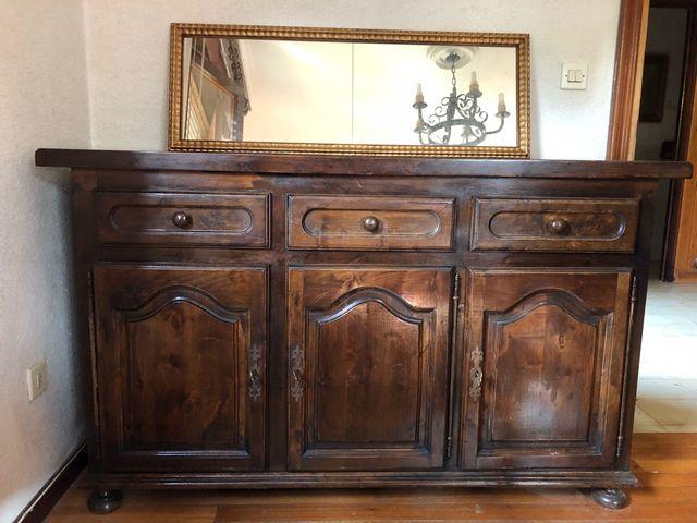 Mueble aparador antiguo de segunda mano por 350 en los corrales de buelna wallapop - Segunda mano cantabria muebles ...