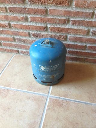 Botella de campin azul