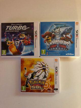 3 juegos Nintendo 3DS