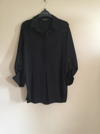 Black Roll Sleeve Shirt Size 10