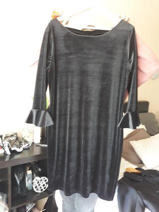 Vestido de terciopelo con una sola puesta