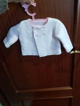 chaqueta bebe rosa niña