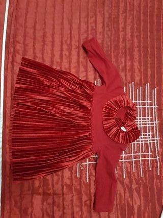 vestido bebe rojo