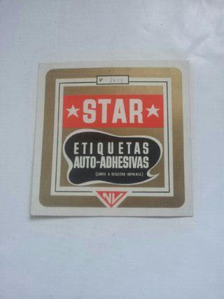 etiquetas antiguas star auto-adhesivas