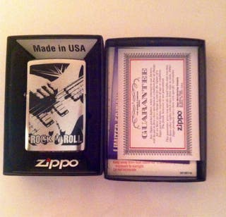Zippo Rock And Roll Mod.200 Brushed Chrome