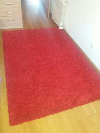 alfombra pelos color rojo vino 133x195
