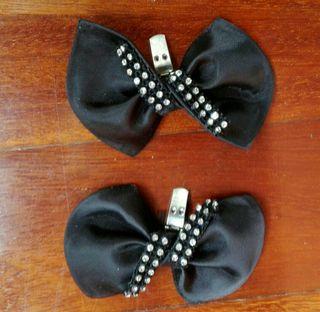 Adornos zapatos negros ceremonias bolsos Ropa