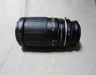 Objetivo adaptado a Sony Nex o Canon 80-210mm