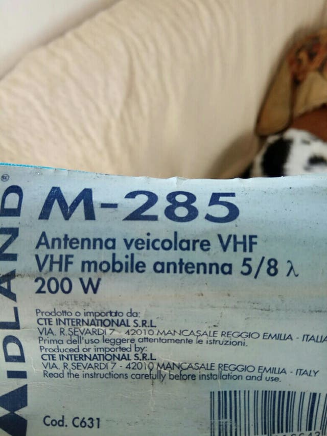 Radioaficionados, Antena VHF