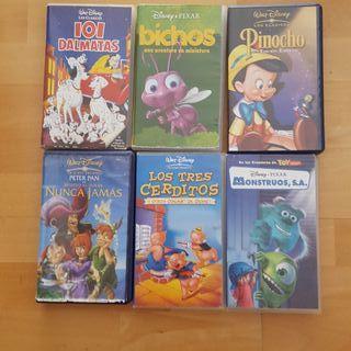 PELICULAS VÍDEOS VHS DISNEY PACK 5