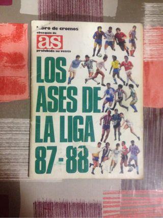 Album cromos liga 87-88
