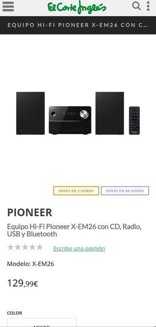 pioneer equipo musica