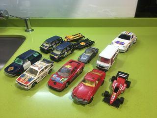 Lote coches escala Guisval,rico,paya,jyesa, tipo,Mira,sólido,norev,dalia,Corgi,Pilen,Matchbox de 1/25 a 1/43 Audi Quattro,Mercedes,Ferrari,Porche,Space remolques,Camaro,Renault 12 poli