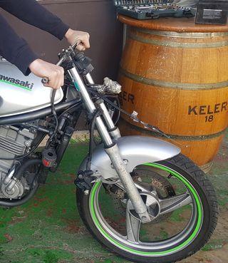 manillar recto moto cafe racer