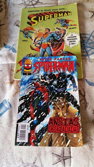 Superman y Spiderman