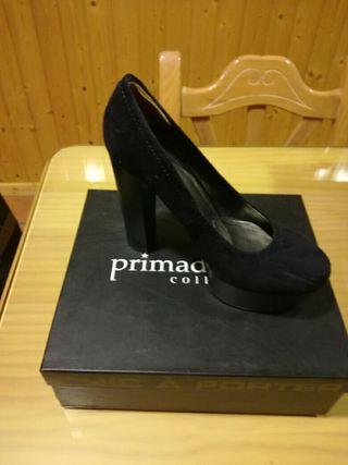 Zapatos plataforma negros talla 40