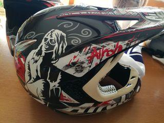 Casco motocross Airoh Stelt Senior View negro Nuev