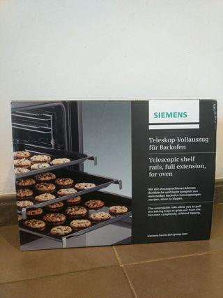 Raíles telescópicos horno Siemens