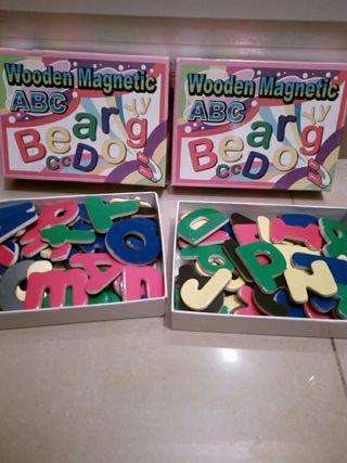 letras magneticas de madera