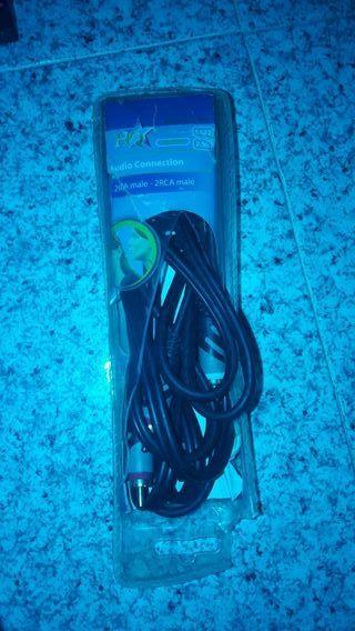 cable de conexion de audio y stereo rca