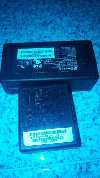 cable de corriente y baterias de impresora